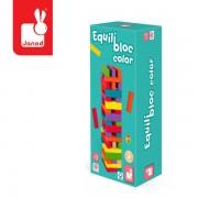 JANOD Gra Jenga (wieża) z kolorami Equilibloc, - gra zręcznościowa dla całej rodziny
