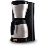 Cafetiera Philips Café Gaia HD7546/20, 1000 W, Vas termorezistent 1.2 l, 15 ceşti, Negru
