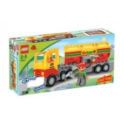Lego Duplo Lego Ville Series # 5605 : Tanker Truck Set with Driver Minifigure and Tanker Truck with