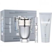 Paco Rabanne Invictus lote de regalo XII. eau de toilette 100 ml + eau de toilette 10 ml + champú para todo el cuerpo 100 ml