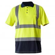 Tricou reflectorizant polo / verde - 2xl