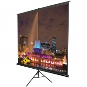 "SCREEN, Elite Screens T99UWS1, Tripod, 99"" (1:1), 177.8 x 177.8cm, Black (T99UWS1)"