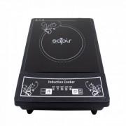 Индукционен котлон SAPIR SP 1445 VG, 2000W, 5 степени на мощност, LED, Автоматично изключване, Черен