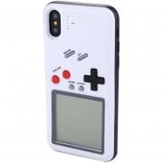 Wanle Vc-061 Para IPhone X 3D Puzzle Juego Maquina Diseñada Duro Volver Funda De Silicona Protectora (blanco)