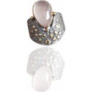 Inel din argint cu piatra cuart roz IN1778