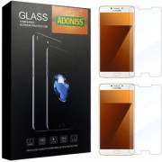 Adoniss 0.3mm Full Flexible Mobile Tempered Glass Protector (Pack of 2) for Samsung C9 Pro