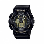 casio baby-g BA-120SP-1A 100m reloj digital analogico impermeable para mujer reloj deportivo con correa de resina-negro