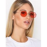 NLY Accessories Octagonal Sunglasses Solglasögon Rosa