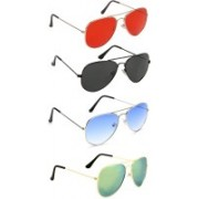 David Martin Aviator Sunglasses(Red, Black, Blue, Green)