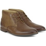 Clarks Broyd Mid Tan Leather Boots For Men(Tan)