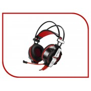 Jet.A GHP-400 Pro с LED-подсветкой и Surround Sound 7.1 Black-Red