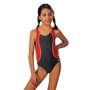 Costum de baie Otýlie gri-roșu 146