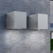 vidaXL Кубични градински лампи, 2 броя