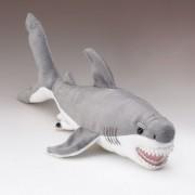 """Small Great White Shark Plush Stuffed Toy 15"""" Long"""