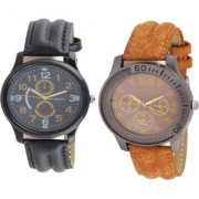 KDS Brand Smart Look Leather Watch 1 - 12 for Men combo watches Watch - For Men