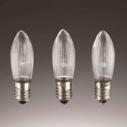 E10 3 W 23 V candle bulbs in a set of 3