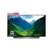 Televizor OLED 4K LG OLED55C8PLA, Smart TV, Wi-Fi, 4K Cinema HDR, Dolby Atmos®, Contrast infinit, 139 cm, Negru/Argintiu