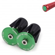 2 Piezas De Bicicleta Manillar De Aluminio End Plugs (verde)