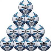 molten Fußballpaket (10 Stück) F5V2800 - weiß/blau/silber | 5