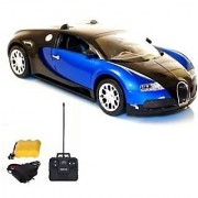 StyloHub Bugatti Veyron Rechargeable Remote Control Car (Black-Blue Black-Red)