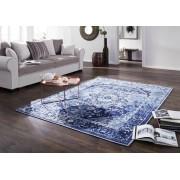 Tapis 240x170cm - Coton (Bleu) - Inspiration ethnique - LINCOLN TWO