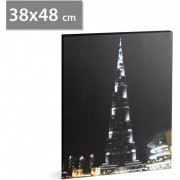 """FAMILY POUND - Tablou cu LED - """"Burj Kalifa"""", 2 x AA, 38 x 48 cm"""