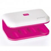 Promed UV-nageltork UV-LED 8 8 W Mini rosa och vit 330035