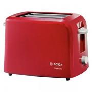 Bosch CompactClass TAT3A014 - Grille-pain - 2 tranche(s) - 2 fente(s) - rouge/gris clair