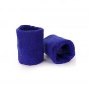 Merkloos Pols zweetbandjes blauw voor volwassenen 2 stuks