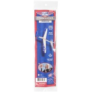 "Sky Blue Flight Balsa Eagle Jet Rubber Band Powered Glider Model Kit, 12"""