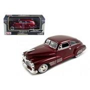 Motor Max 1948 Chevy Aerosedan Fleetline, Red - Motormax Premium American 73266 1/24 Scale Diecast Model Car