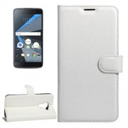 For BlackBerry DTEK60 Litchi Texture Horizontal Flip Leather Case with Magnetic Buckle & Holder & Card Slots & Wallet(White)