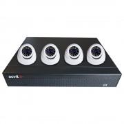 Sistem supraveghere exterior AHD Acvil AHD-4INT20-1080P-S, 4 camere, 2 MP, IR 20 m