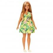 Barbie Fashionista Muñeca Rubia Bronceada con Vestido de Estampado Tropical