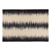 Alfombra en lana marfil y negro 160 x 230 cm IKAT - Miliboo