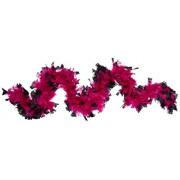 Deluxe 133g Fuchsia/Black Feather Boa Costume Accessory