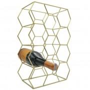 Stojak metalowy złoty WINO regał szafka półka na butelki wina - 11 butelek