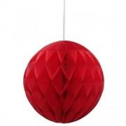 Decor sfera fagure rosu 30 cm