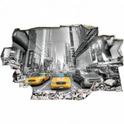 Stickers Muraux Stickers Trompe l'oeil 3D - New york taxi