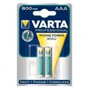 VARTA Lot de 2 piles rechargeables ACCU AAA 800mAh PHONE