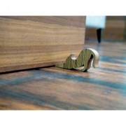 JaamsoRoyals Cat Design Small Non-Slip wooden Door Stoppers - To Stop Or Jam the Doors