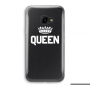 Samsung Galaxy XCover 4 Transparant Hoesje - Queen zwart