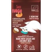 Ciocolata cu lapte de cocos bio 80g Super Fudgio
