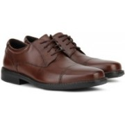 Clarks WENHAM CAP Lace Up For Men(Brown)