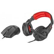 Set Casti cu Microfon Gaming Trust GXT 784 + Mouse (Negru/Rosu)