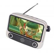 TV300 5W Retro TV Design Wireless Bluetooth Support TF/USB/AUX/FM Speaker - Light Brown
