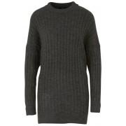 ONLY Doamnelor pulover ONLNEW MIRAMAR L / S Oversize puloverele KNT Dark Grey Melange XL