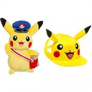 Pokemon Center Special Delivery Pikachu Plush and Pokemon Pikachu Hat, Pokemon Pikachu Stuffed Animal and Pokemon Hat by Infinity Loot