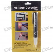 Pluma Estilo Contacto detector de voltaje de CA para no (90V ~ 1000V / 2 * AAA)