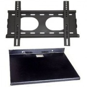 Universal 15 to 42 inch LED LCD TV Wall Mount Bracket with Free Metal Tray Stand